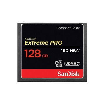 Picture of Sandisk Compact Flash Extreme Pro (160MO/S) 128GO